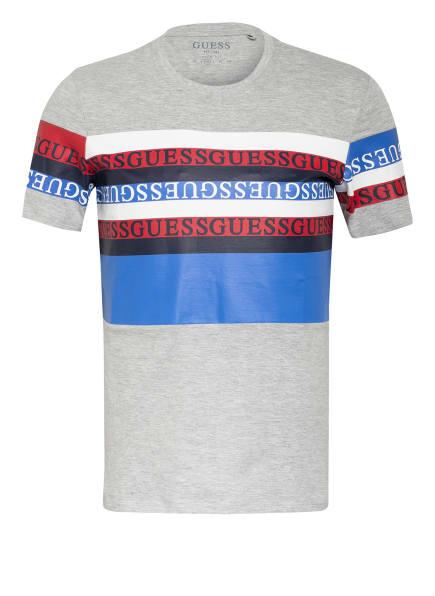 GUESS T-Shirt, Farbe: HELLGRAU/ BLAU/ ROT (Bild 1)