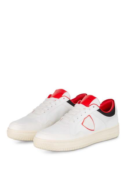 PHILIPPE MODEL Sneaker LYON, Farbe: WEISS/ ROT (Bild 1)