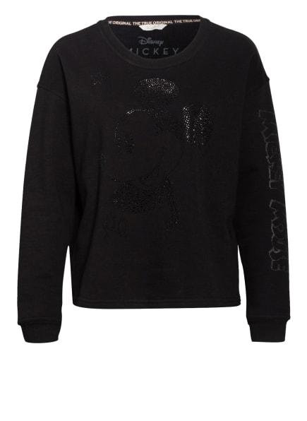 FrogBox Sweatshirt mit Schmucksteinbesatz, Farbe: SCHWARZ (Bild 1)