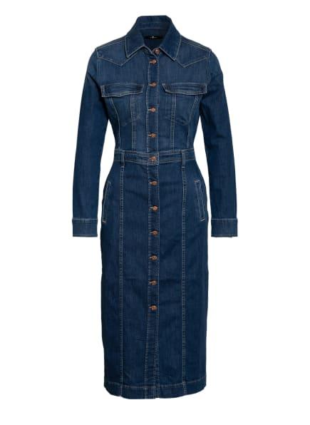 7 for all mankind Hemdblusenkleid WEST aus Jeans, Farbe: West MID BLUE (Bild 1)