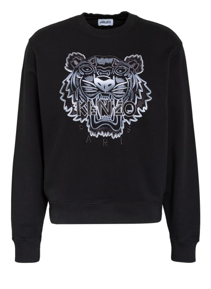 KENZO Sweatshirt TIGER , Farbe: SCHWARZ/ GRAU (Bild 1)