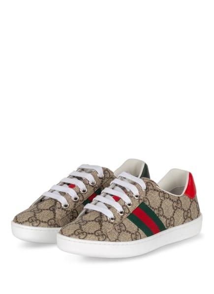GUCCI Sneaker ACE GG SUPREME, Farbe: 9798 BEI-EBO/VRV/BR.HI/VE (Bild 1)