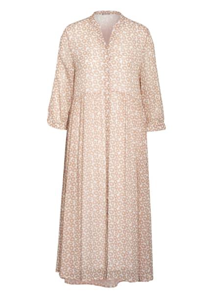 HEMISPHERE Kleid mit 3/4-Arm, Farbe: ECRU/ BEIGE/ HELLROT (Bild 1)