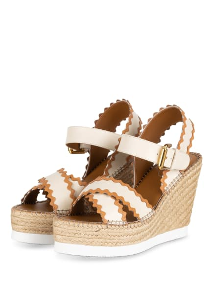 SEE BY CHLOÉ Wedges GLYN, Farbe: CREME/ CAMEL (Bild 1)