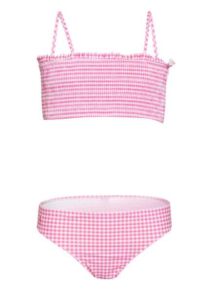 POLO RALPH LAUREN Bandeau-Bikini, Farbe: ROSA/ WEISS (Bild 1)
