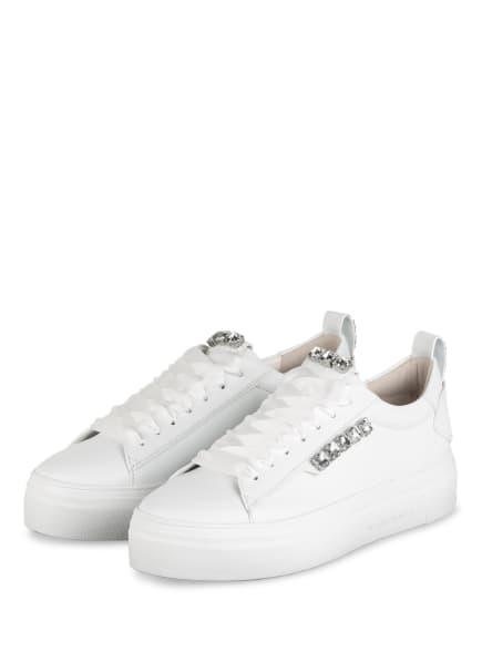KENNEL & SCHMENGER Plateau-Sneaker BIG mit Schmucksteinbesatz , Farbe: WEISS (Bild 1)