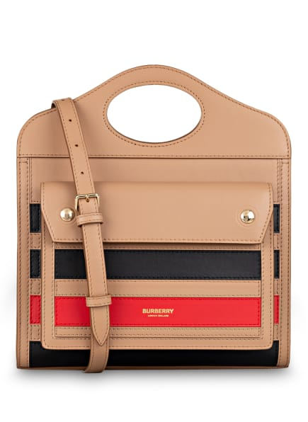 BURBERRY Handtasche POCKET MINI, Farbe: COGNAC/ ROT/ SCHWARZ (Bild 1)