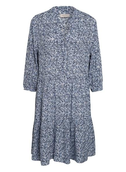 FREEQUENT Kleid FQMAREY mit 3/4-Arm, Farbe: DUNKELBLAU/ WEISS/ HELLBLAU (Bild 1)