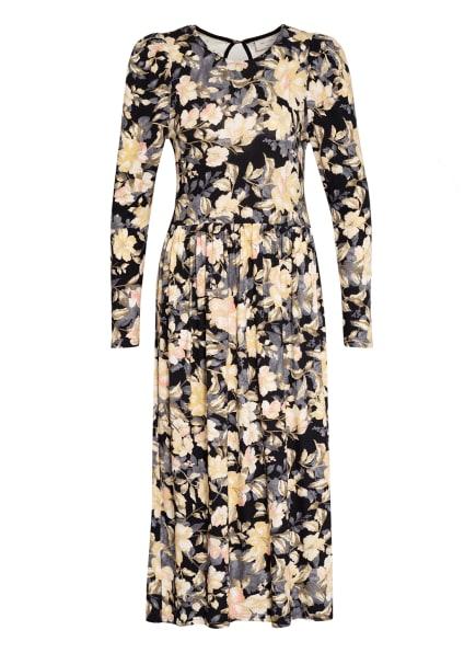 FREEQUENT Kleid PRUE, Farbe: SCHWARZ/ GELB/ HELLROSA (Bild 1)