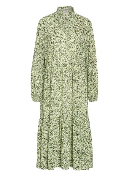 FREEQUENT Kleid FQSMILLAY mit Rüschenbesatz, Farbe: HELLGRÜN/ WEISS/ DUNKELGRÜN (Bild 1)