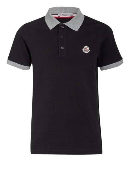 MONCLER enfant Jersey-Poloshirt MANICA, Farbe: SCHWARZ/ GRAU (Bild 1)
