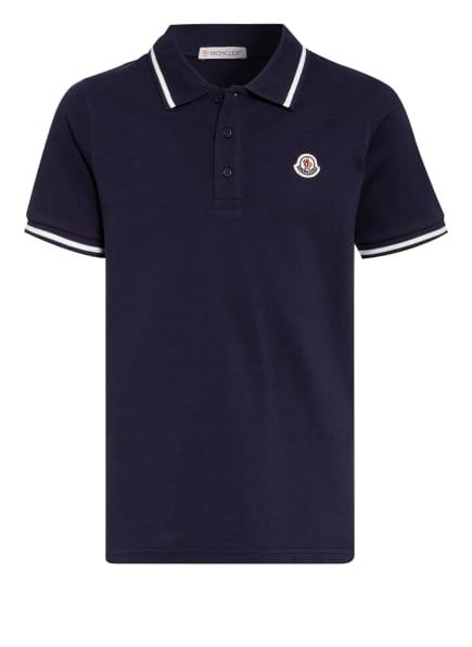 MONCLER enfant Piqué-Poloshirt, Farbe: DUNKELBLAU (Bild 1)