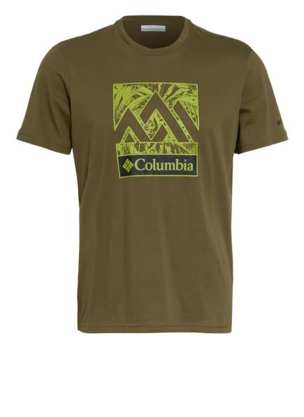 Columbia T-Shirt RAPID RIDGE™, Farbe: OLIV/ HELLGRÜN (Bild 1)