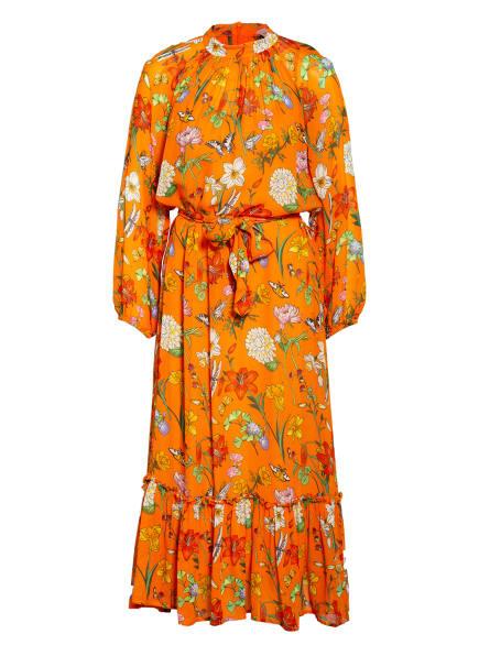 herzensangelegenheit Kleid mit Rüschenbesatz, Farbe: ORANGE/ GELB/ GRÜN (Bild 1)