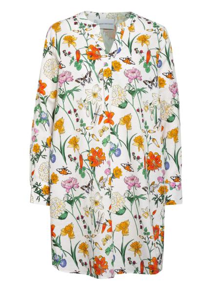 herzensangelegenheit Kleid mit Leinen, Farbe: ECRU/ ORANGE/ GRÜN (Bild 1)