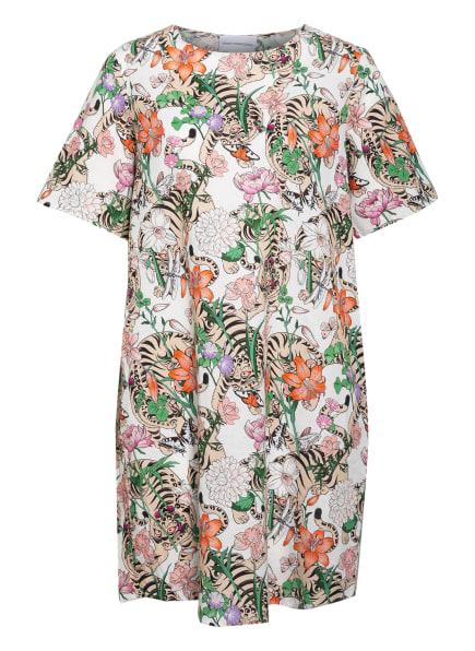 herzensangelegenheit Kleid mit Leinen, Farbe: ECRU/ GRÜN/ ORANGE (Bild 1)