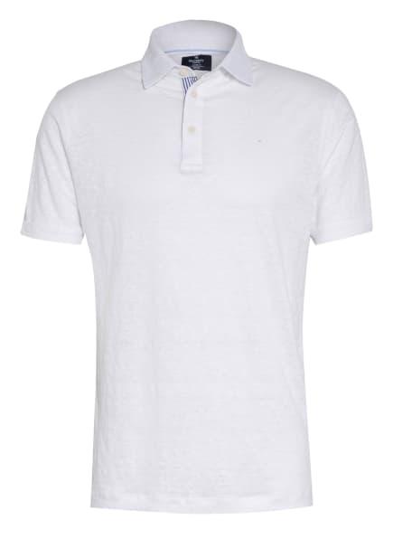 HACKETT LONDON Poloshirt aus Leinen Classic Fit, Farbe: WEISS (Bild 1)