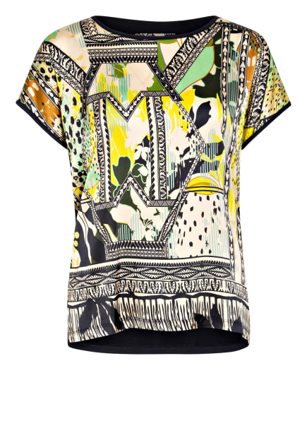 CATNOIR T-Shirt im Materialmix, Farbe: BEIGE/ GELB/ HELLGRÜN (Bild 1)