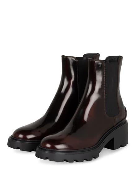 TOD'S Chelsea-Boots , Farbe: SCHWARZ/ DUNKELROT (Bild 1)