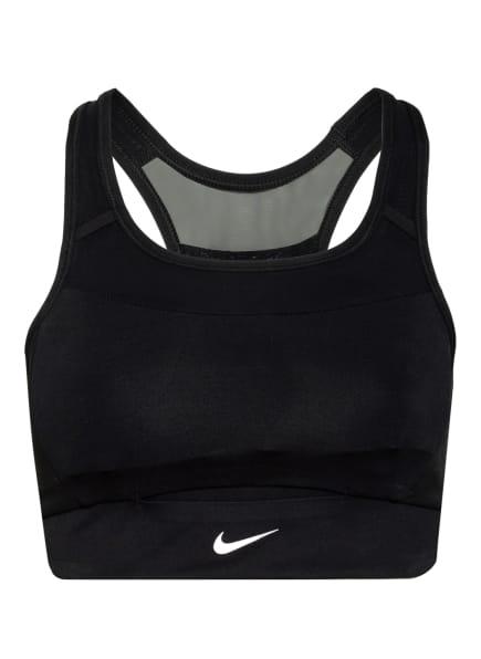 Nike Sport-BH SWOOSH POCKET mit Mesh-Einsatz, Farbe: SCHWARZ (Bild 1)