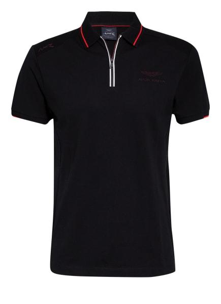 HACKETT LONDON Piqué-Poloshirt, Farbe: SCHWARZ (Bild 1)