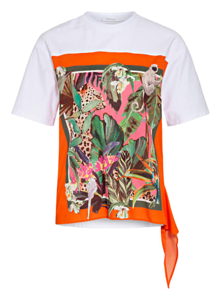 darling harbour T-Shirt im Materialmix, Farbe: WEISS (Bild 1)