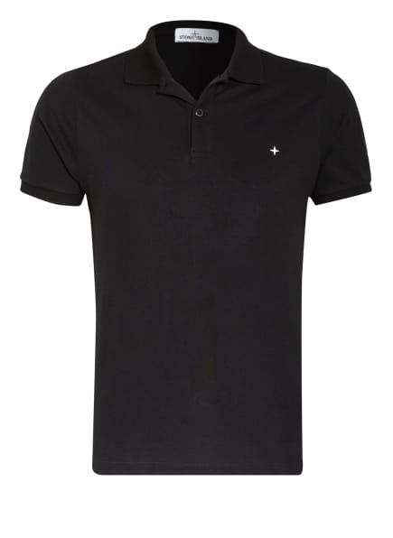 STONE ISLAND Piqué-Poloshirt Regular Fit, Farbe: SCHWARZ (Bild 1)