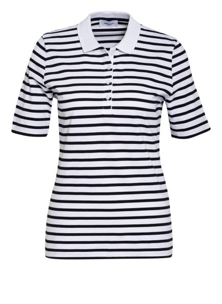 darling harbour Piqué-Poloshirt, Farbe: DUNKELBLAU/ WEISS (Bild 1)