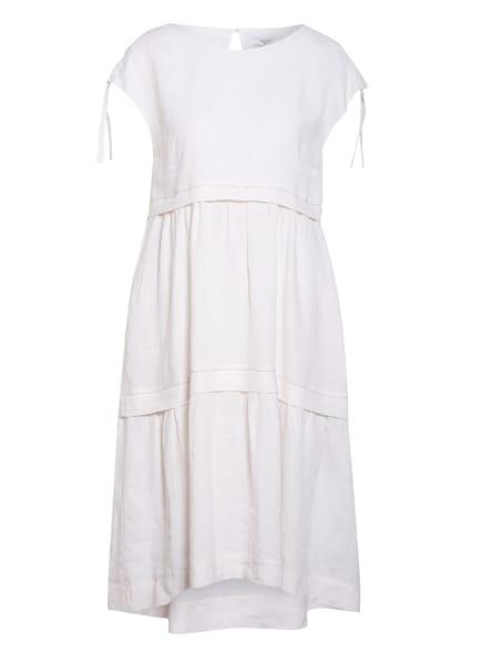 PESERICO Leinenkleid mit Schmucksteinbesatz, Farbe: WEISS (Bild 1)