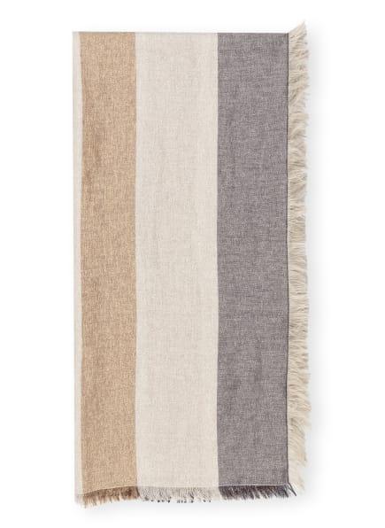 FABIANA FILIPPI Tuch, Farbe: SILBER/ BEIGE/ DUNKELBLAU (Bild 1)