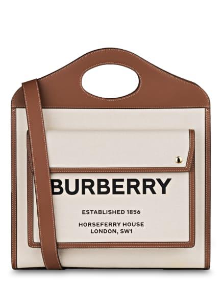 BURBERRY Handtasche POCKET BAG, Farbe: ECRU/ BRAUN (Bild 1)