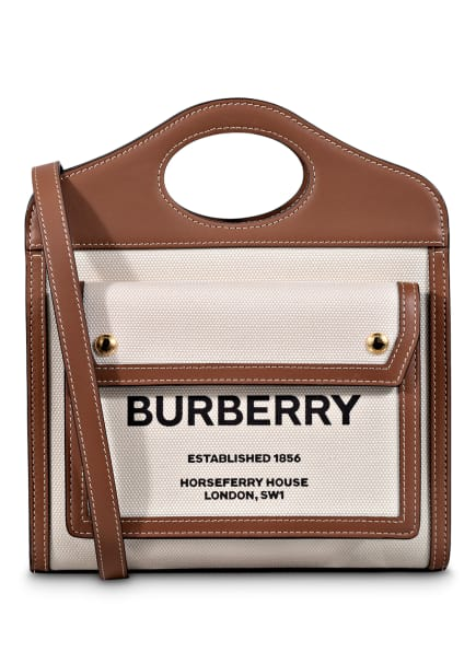 BURBERRY Umhängetasche POCKET BAG, Farbe: CREME/ BRAUN (Bild 1)