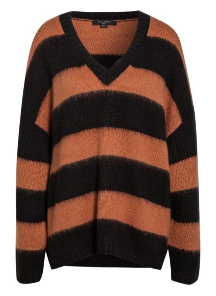 ALL SAINTS Oversized-Pullover LOU, Farbe: SCHWARZ/ HELLBRAUN (Bild 1)