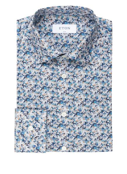 ETON Hemd Slim Fit, Farbe: WEISS/ BLAU/ HELLORANGE (Bild 1)