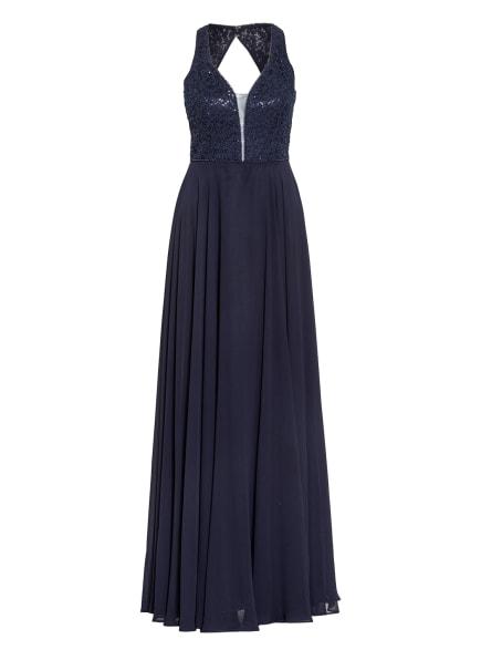 VM VERA MONT Abendkleid mit Perlen- und Paillettenbesatz, Farbe: DUNKELBLAU (Bild 1)