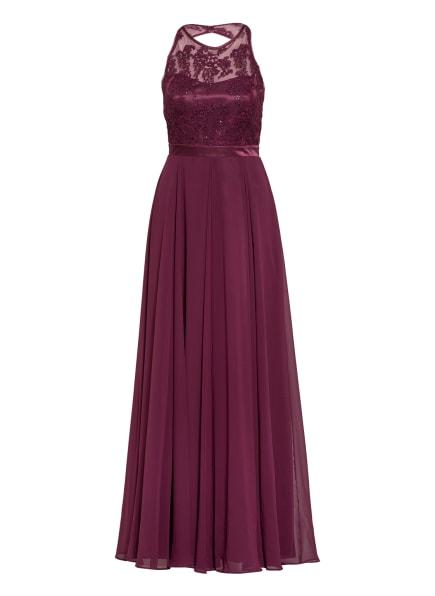 VM VERA MONT Abendkleid mit Paillettenbesatz, Farbe: DUNKELROT (Bild 1)