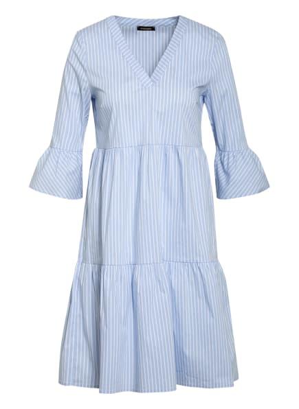 MORE & MORE Kleid mit 3/4-Arm, Farbe: WEISS/ HELLBLAU (Bild 1)
