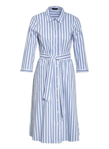 MORE & MORE Hemdblusenkleid mit 3/4-Arm, Farbe: WEISS/ BLAU (Bild 1)
