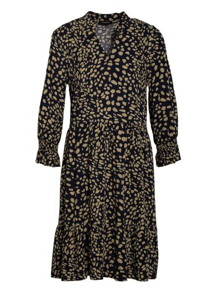 MORE & MORE Kleid mit 3/4-Arm , Farbe: DUNKELBLAU/ HELLBRAUN (Bild 1)