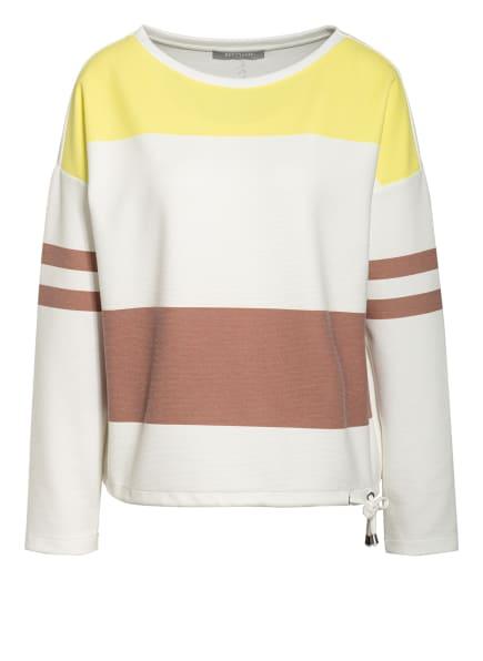 BETTY&CO Sweatshirt, Farbe: WEISS/ NEONGELB/ BRAUN (Bild 1)