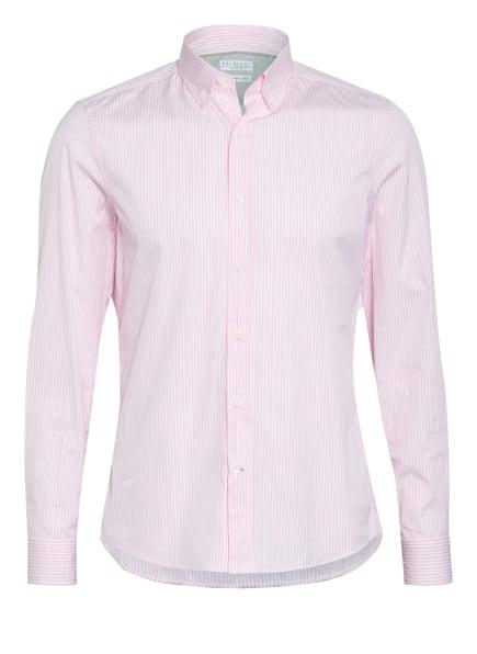 BRUNELLO CUCINELLI Hemd Leisure Fit, Farbe: ROSA/ WEISS (Bild 1)