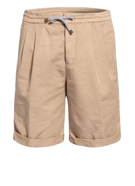 BRUNELLO CUCINELLI Shorts mit Leinen, Farbe: BEIGE (Bild 1)
