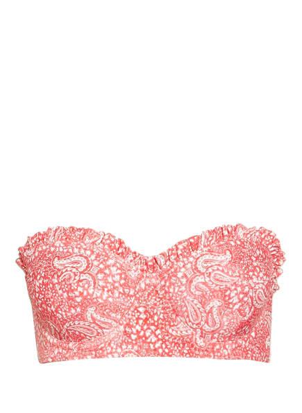 MICHAEL KORS Bandeau-Bikini-Top , Farbe: HELLROT/ WEISS (Bild 1)