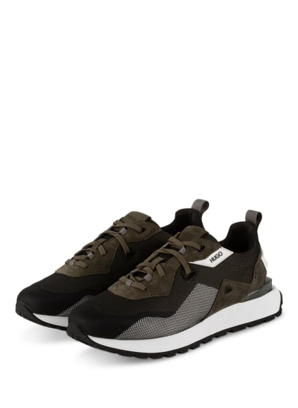 HUGO Sneaker CUBITE RUNN, Farbe: KHAKI/ SCHWARZ (Bild 1)