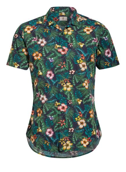 Q1 Manufaktur Resorthemd Slim Fit, Farbe: DUNKELBLAU/ GRÜN/ GELB (Bild 1)