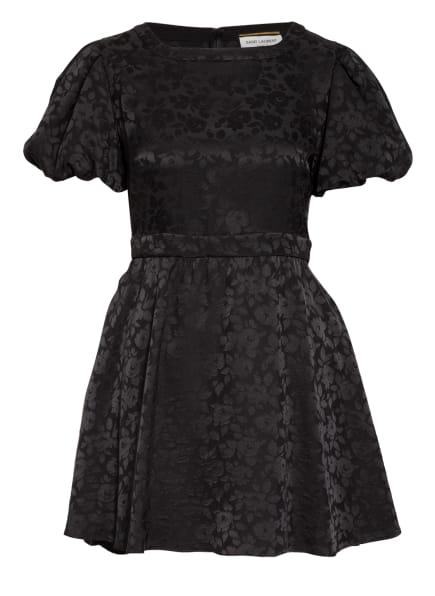 SAINT LAURENT Jacquard-Kleid aus Seide, Farbe: SCHWARZ (Bild 1)