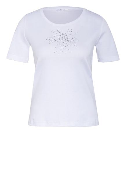 efixelle T-Shirt mit Schmucksteinbesatz, Farbe: WEISS (Bild 1)