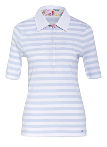 efixelle Jersey-Poloshirt, Farbe: HELLBLAU/ WEISS (Bild 1)