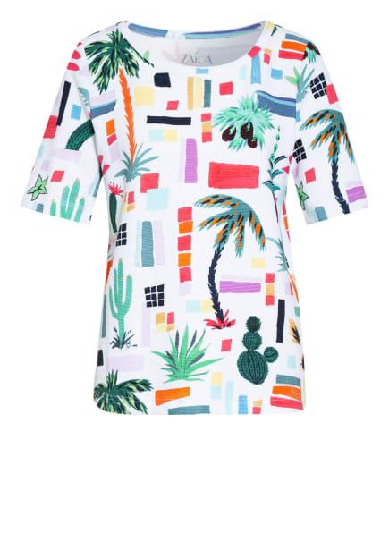 ZAÍDA T-Shirt RUHA, Farbe: WEISS/ PETROL/ ROT (Bild 1)