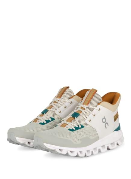 On Running Sneaker CLOUD HI EDGE, Farbe: HELLGRAU/ BEIGE/ ECRU (Bild 1)
